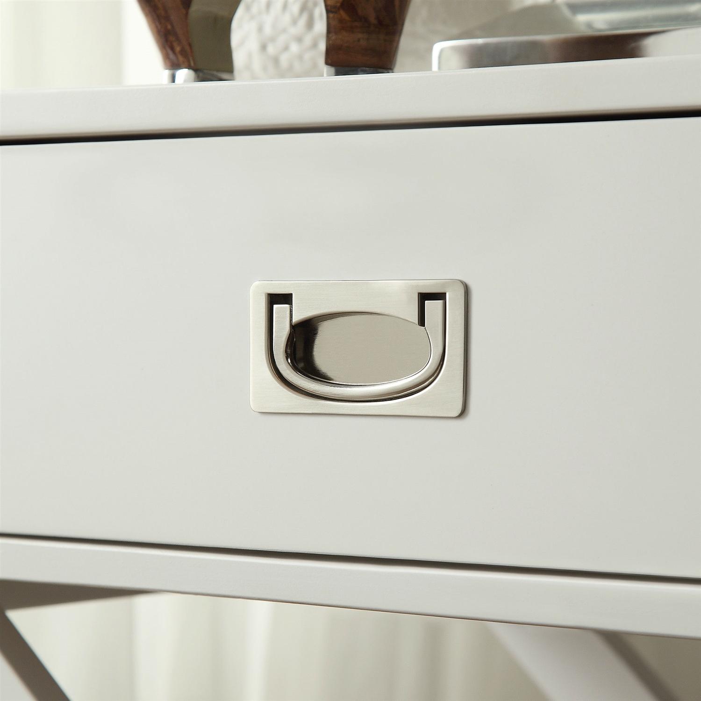 White Modern Bedroom Decor 1-Drawer Bedside Table ...